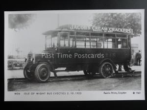 Omnibus ISLE OF WIGHT BUS VECTIS JACOBS CREAM CRACKER Pamlin Print Postcard M36