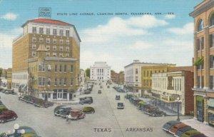 TEXARKANA , Arkansas , 30-40s ; State Line avenue looking North, version 2