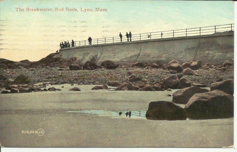 The Breakwater, Red Rock, Lynn, Mass.