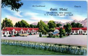 Las Cruces, New Mexico Postcard BRUCE MOTEL Highway 80 Roadside Tichnor c1950s