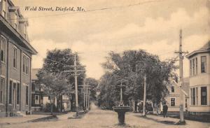 Dixfield ME~Weld Street~Horse Trough Drinking Fountain~McCormick Harvestors~1908