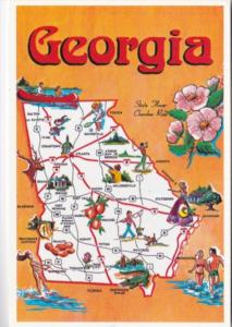 Map Of Georgia Empire State Of The South