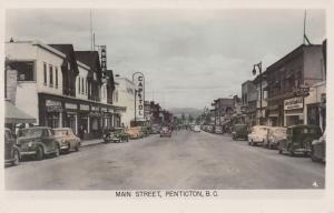 RP: PENTICTON, B.C., Canada, 1930s-40s ; Main Street , Capitol Theater