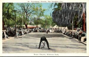 Florida St Petersburg Williams Park Roque Players 1924