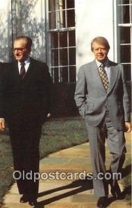 American Embassy Postcard President Jimmy Carter, Shah Mohammed Reza Pahlavi