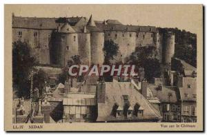 Old Postcard Sedan View Of The Chateau