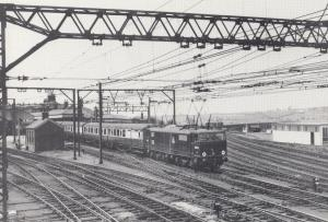 26024 Train in 1955 From Manchester To Bury St Edmunds Penistone Railway Post...
