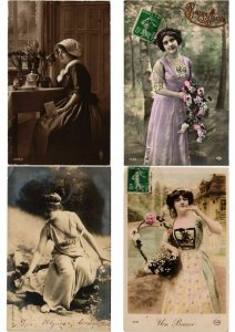 FEMMES LADIES GLAMOUR REAL PHOTO lot of 800 CPA Pre-1940 Part 1. (L2450)