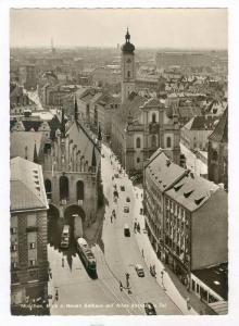 RP  Munchen, Blick v. Neuen Rathaus auf Altes Rathaus, 1950-60s Germany