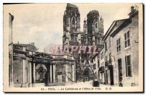 Old Postcard Toul The Cathedral and the City Hall