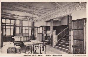 Panelled Hall Avon Tyrrell Hampshire Real Photo Postcard