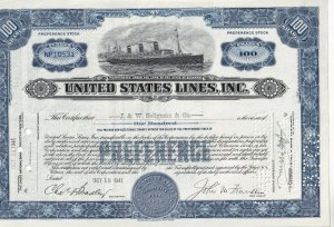 Preference Stock 100 Shares - NP10531, S.S. Leviaton, J. & W. Seligman & Co.