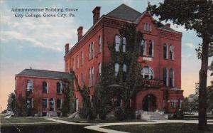 Pennsylvania Grove City Adiministration Building Grove College 1915