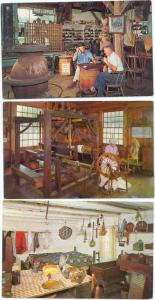 3 Cards of Old Museum Village of Smith's Clove,, Monroe,, NY, New York State, Ch