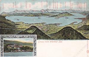 Gruss vom Wörthersee ,Carinthia , Austria , 1890s