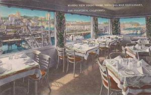 California San Francisco Vista Del Mar Restaurant Marine View Dining Room