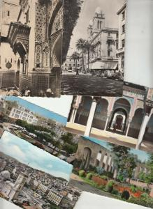 Lot North Africa Tunisia Morocco Algeria 6 semi-modern postcards mosques streets