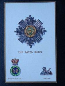 Regimental Badge THE ROYAL SCOTS c1915 Postcard Gale & Polden 1629