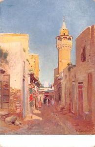 Tunisia, Africa Old Vintage Antique Post Card Street Scene Unused