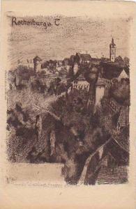 General View, Rothenburg o.d. Tauber (Bavaria), Germany, 1900-1910s