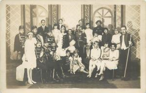 Iconic masquerade costumes uniforms vintage group photo postcard