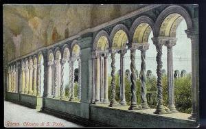 St Paul's Cloister Rome Italy c1910 unused