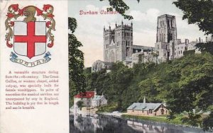 England Durham Cathedral & Coat Of Arms 1908