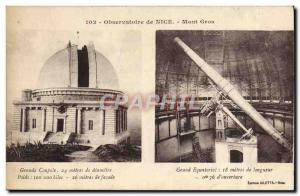 Old Postcard Nice Observatory Large Equatorial Grand Dome