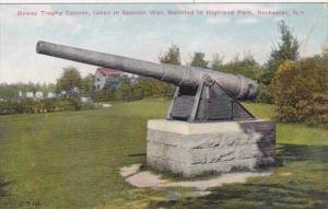 New York Rochester Dewey Trophy Cannon Taken In Spanish War Mounted In Highla...