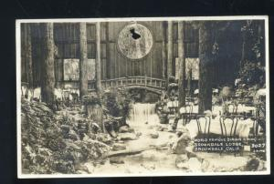 RPPC BROOKDALE CALIFORNIA LODGE INTERIOR WORLD FAMOUS REAL PHOTO POSTCARD