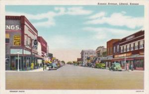 Kansas Liberal Kansas Avenue Curteich