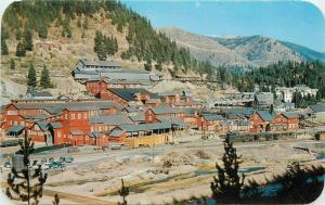 1950s Mullan Idaho Morning Mine Highway 10 Ross Hall Dexter postcard 6925