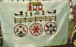 PENNSYLVANIA, 1940-1960's; Quilt, Pennsylvania Dutch Craft