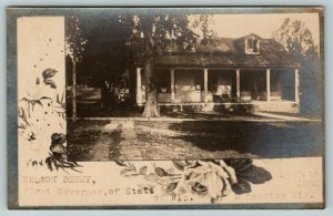 Lancaster Wisconsin~First Governor of State~Nelson Dewey Home~Roses~1910 RPPC
