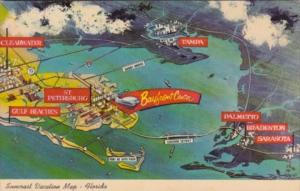 Suncoast Vacation Map In Florida The Sunshine State