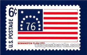 Bennington Flag 1777 North Bennington, Vermont Patriotic Postcard Post Card N...