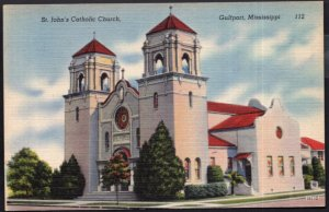 Mississippi GULFPORT St. John's Catholic Church - LINEN