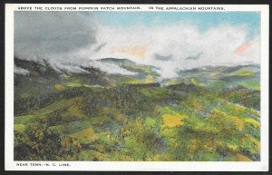 Clouds Above Pumpkin Patch Mountain Appalachian Mountains Unused c1920s