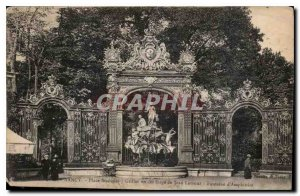 Old Postcard Nancy Place Stanislas grids Wrought iron Jean Lamour Fountain of...