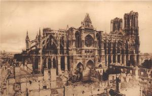 B38020 Reims La Cathedrale Ensemble Nord   france