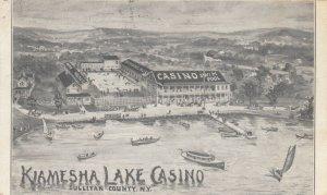 SULLIVAN COUNTY, New York, 1900-10s; Kiamesha Lake Casino