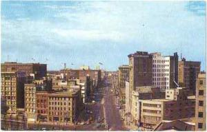Portage Ave, Looking West from Main, Winnipeg, Manitoba Canada, Pre-zip