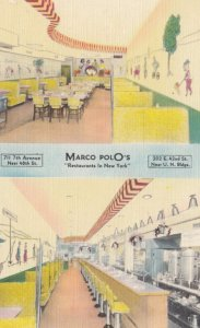 NEW YORK CITY, 1930-40s; Marco Polo's Restaurants in NYC