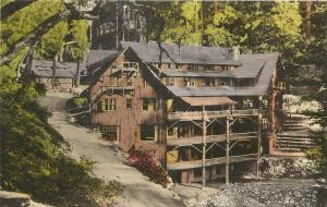 1930s Hand-Colored Postcard; Oregon Caves Chateau, Josephine County OR, Unposted