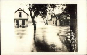 Albany WI Flood Sep 13 1915 Real Photo Postcard #1