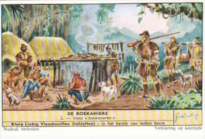 Liebig Trade Card s1684 Buccaneers No 2 Vlees boekaneren