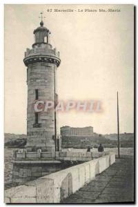 Old Postcard Lighthouse Ste Marie Marseille