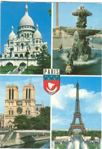 France, PARIS, multi view, used Postcard