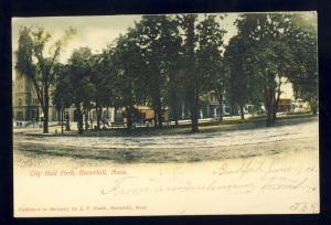Haverhill, Massachusetts/MA/Mass Postcard, City Hall Park, 1906!