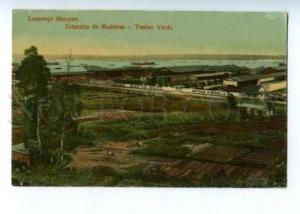 144689 PORTUGAL MADEIRA Timber yards Vintage postcard